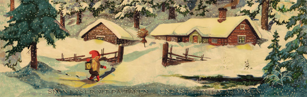 My Tomten poster for sale, which           dates to the 1920s. An authentic bit of Sweden for your           Christmas decorating!