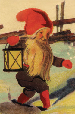 a detail of my tomten               poster, a great example of a Swedish / Scandinavian               Christmas decoration